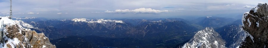 Panorama - top of germany (Zugspitze)